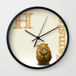 H is for Hamster Wall Clock