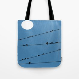 Blackbirds on a Wire Tote Bag
