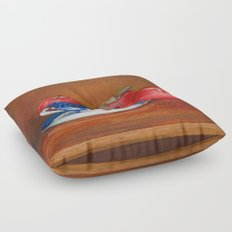 Teacup with Three Apples Floor Pillow