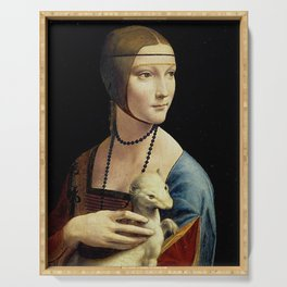 THE LADY WITH AN ERMINE - DA VINCI Serving Tray