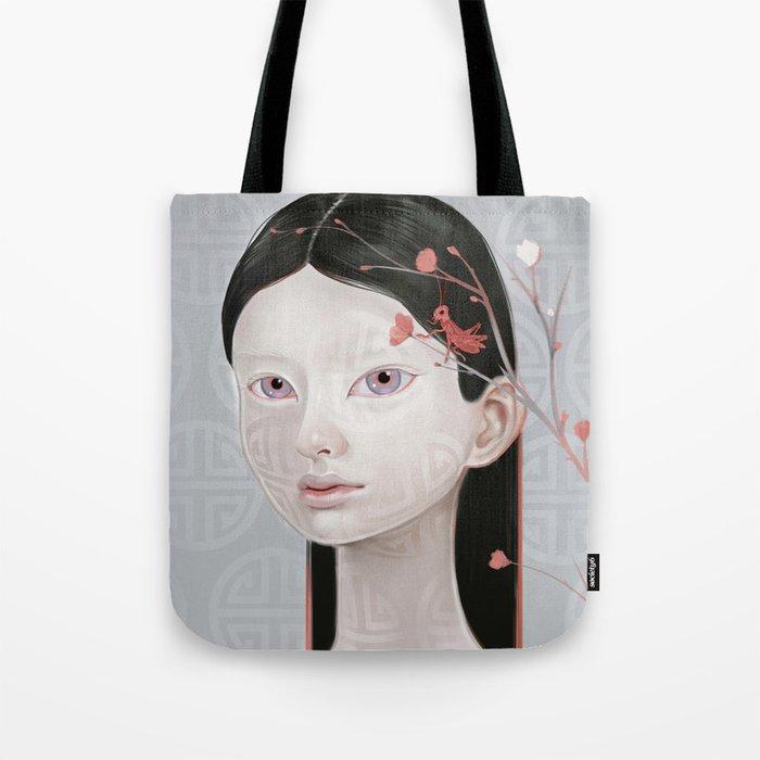 Japanese Black Blossom Tote Bag