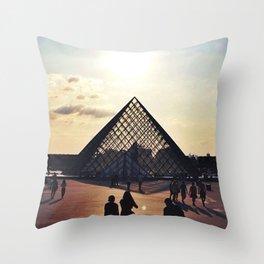 Musée du Louvre Throw Pillow