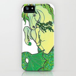 mermaid horse iPhone Case