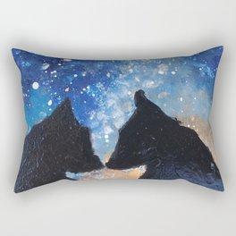 Wolf Night Rectangular Pillow