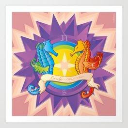Cavalos Marinhos (Seahorses) Art Print