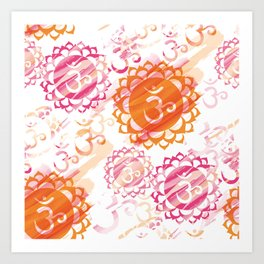 Om Colorful Art Print