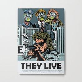 "John Carpenter's ""They Live"" Metal Print"