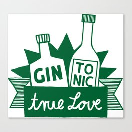 Gin Tonic True Love Canvas Print