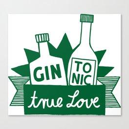 Gin Tonic True Love Canvas Print