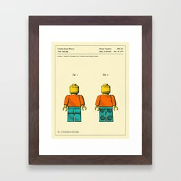 TOY FIGURE Framed Art Print