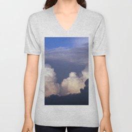 Cloud towers in the Sky -  cumulonimbus Unisex V-Neck