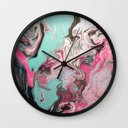 Dirty Paint Pour 1, Fluid Art Reproduction Wall Clock