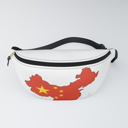Chines Map Flag Fanny Pack