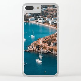 Sailing boats in the island of Leros Clear iPhone Case
