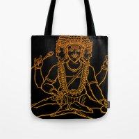 hindu Tote Bags featuring Hindu by Littlefox