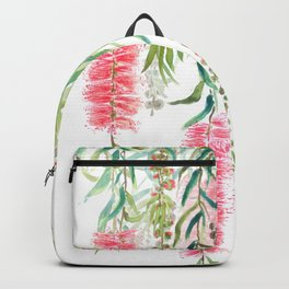 bottle brush tree flower Backpack