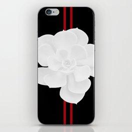 White Succulent On Black #decor #society6 #buyart iPhone Skin