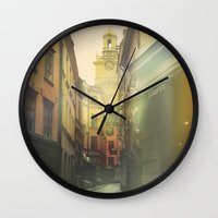 stockholm Wall Clocks featuring Stockholm by Viviana Gonzalez