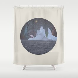 The Lonely Polarcorn Shower Curtain