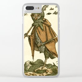 Owl dressed as a soldier Clear iPhone Case