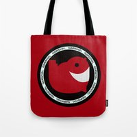 narwhal Tote Bags featuring NARWHAL by David Nuh Omar