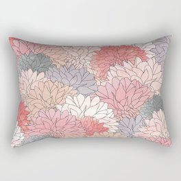 Hydrangea Haven - Muted Colors Rectangular Pillow