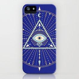 Evil Eye Mandala – Navy iPhone Case