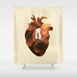 Heart Explorer Shower Curtain