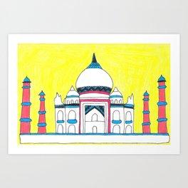 Taj Mahal by Sunil Art Print