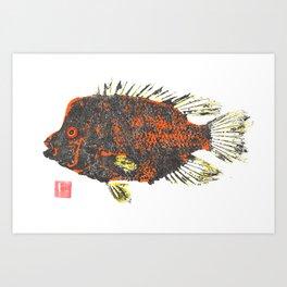 Rio Grande Cichlid orange Art Print