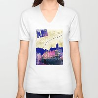 amsterdam V-neck T-shirts featuring Amsterdam by Kimball Gray
