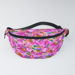 Abstract sewn pink flowers Fanny Pack