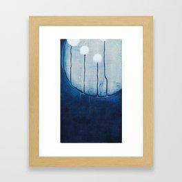 dandelions on the moon Framed Art Print
