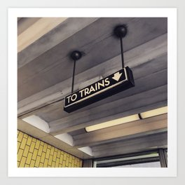 Trono trains Art Print