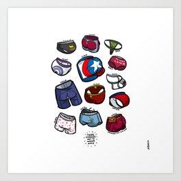 Superheroes Underwear Art Print