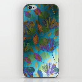 Ginkgo Leaves Under Water iPhone Skin