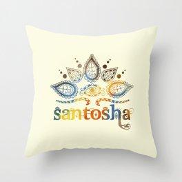 Santosha Yoga & Meditation Throw Pillow