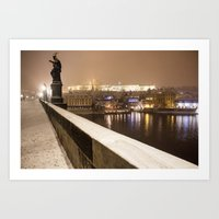 prague Art Prints featuring Prague 7 by Veronika