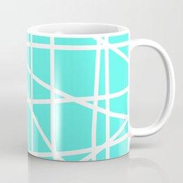Doodle (White & Turquoise) Coffee Mug