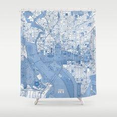 Washington DC Map Shower Curtain