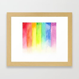 seven colors mix Framed Art Print