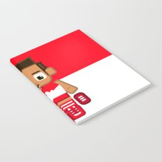Super cute sports stars - Red and White Aussie Footy Notebook