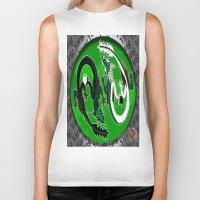 ying yang Biker Tanks featuring ying yang by Nerd Artist DM