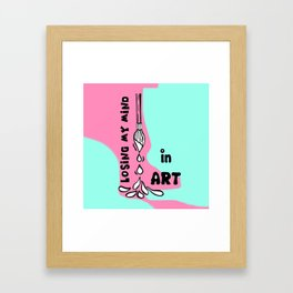 Losing My Mind in Art by Rosalie - Zine Page - Intro Framed Art Print