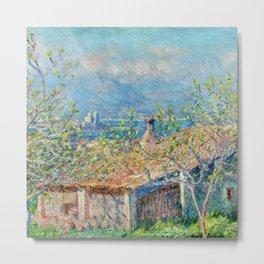 "Claude Monet ""Gardener's House at Antibes"", 1888 Metal Print"