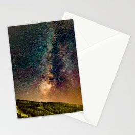 Copper Mountain Galaxy // Incredible Photograph of the Milky Way Stars and Cosmic Dust Stationery Cards