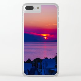 Oia  sunset Clear iPhone Case