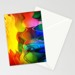 Color fire with yellow ghost Stationery Cards