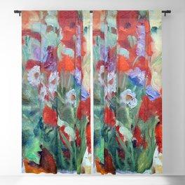 Pierre Bonnard Bouquet of Poppies Blackout Curtain