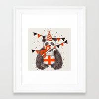 happy birthday Framed Art Prints featuring Happy Birthday by Tobe Fonseca